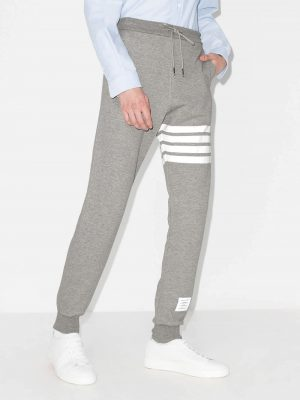 Thom Browne Unisex 20FW MJQ008H 00535 068 4 bar Knit Sweatpants Grey