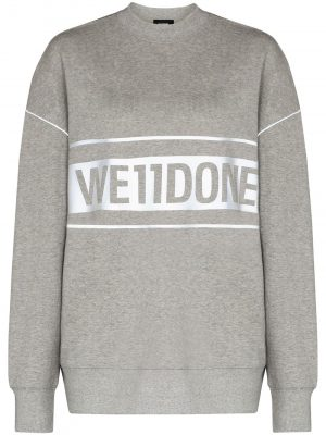 We11Done logo print sweatshirt