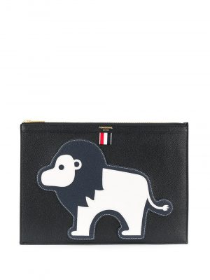 Thom Browne lion clutch