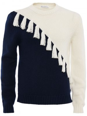 JW Anderson coloured block tassel cashmere jumper