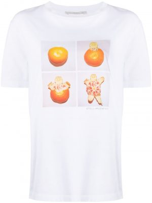 Stella McCartney 20FW 381701SOW06 Turtle Tangerine T-shirt White