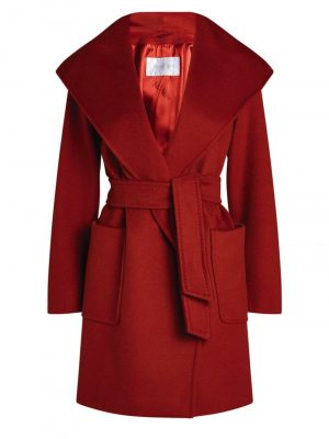 MaxMara 3RIALTO Camelhair coat Red