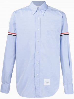 Thom Browne 20FW MWL150E 00906 480 classic woven shirt blue