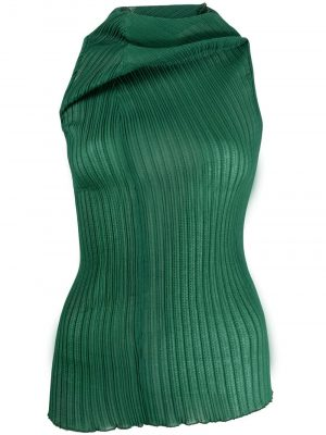 Jil Sander asymmetric ribbed-knit top