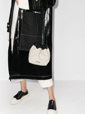 Jil Sander canvas and leather crossbody