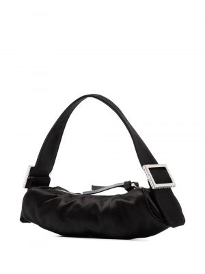 By Far 20FW 20FWKUSBLSMED KUBI silk shoulder bag black