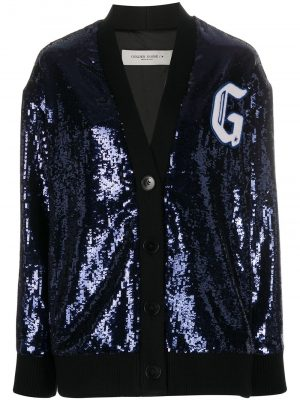 Golden Goose 20FW GWP00229 P000107 50475 Long Jacket with Knitted details Navy