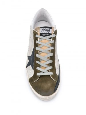 Golden Goose 20FW GWF00101 F000370 mesh sneakers Dark green/white Tail