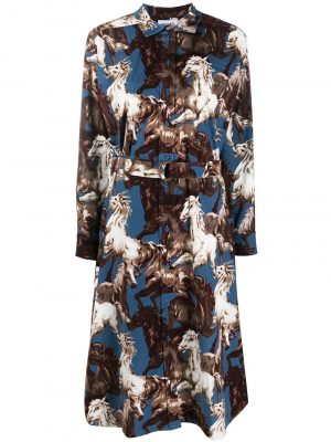 Kenzo horse-print shirt dress