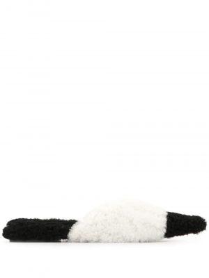 Marni sheepskin monochrome sandals