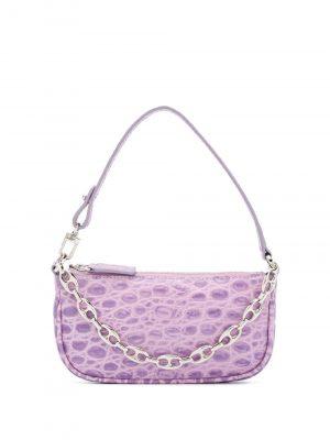 By Far SS21 20CRMIRALLDSMA Mini Rachel Croco Embossed Bag Lilac