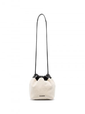 Jil Sander leather-trim canvas cross body bag