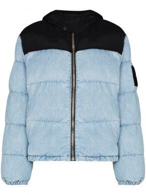 Alexander Wang hybrid panelled puffer jacket