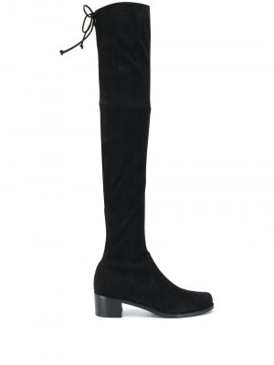 STUART WEITZMAN 20FW S5721 MIDLAND suede stretch boots Black