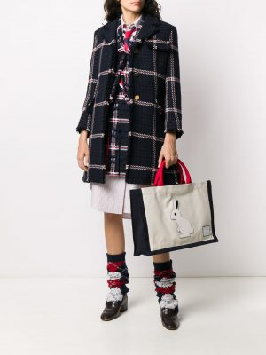 Thom Browne 20FW FAP256A-06555 Rabbit Tote in Cotton canvas