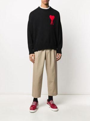 Ami oversized logo jumper