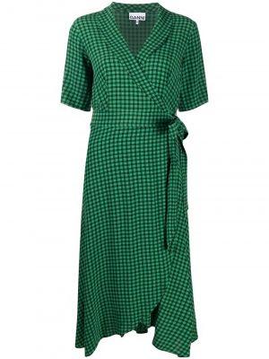 Ganni gingham-print dress
