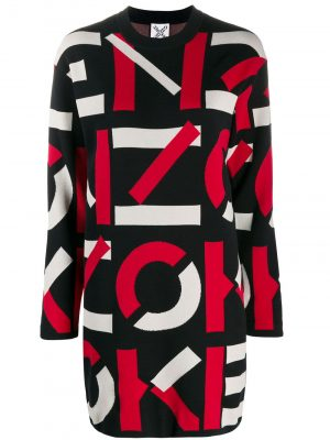 Kenzo logo intarsia sweater dress