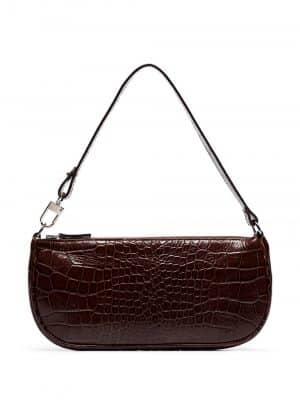 By Far RACHEL croco embossed leather handbag