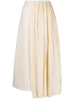 Jil Sander pleated-panel midi skirt