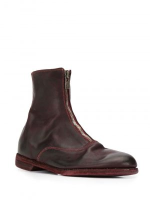 Guidi 20FW 210 CV23T Front Zip Short Boots Burgundy