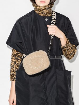 Stella Mccartney eco shearling camera bag