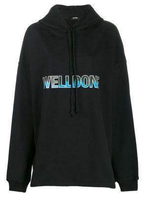 We11Done logo print hoodie