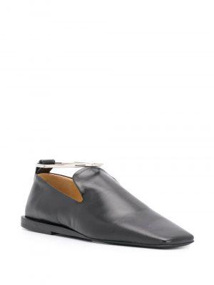 Jil Sander ankle bracelet square-toe loafers