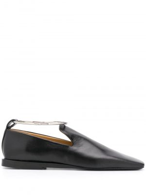 Jil Sander ankle bracelet square-toe loafers