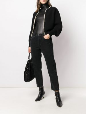 Alexanderwang 21SS 1KC1201075 001 cardigan with pearl placket