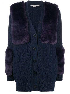 Stella Mccartney faux fur-trimmed cardigan