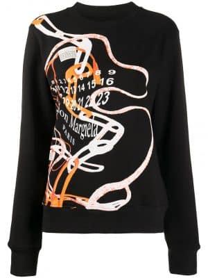 Maison Margiela logo-print cotton sweatshirt