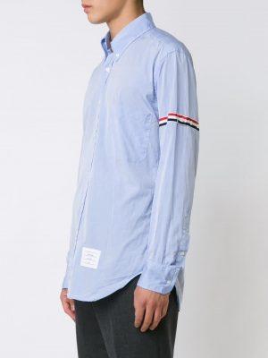 Thom Browne striped band classic shirt