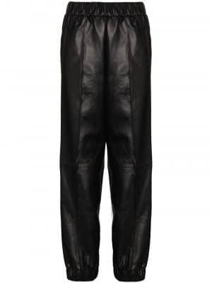 GANNI SS21 F5576 Lamb Leather Pants Black