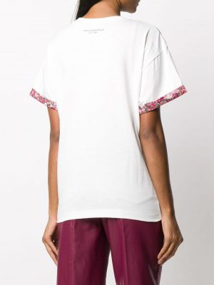 Philosophy floral-trimmed T-shirt