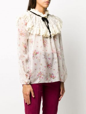 Philosophy floral-print ruffled blouse