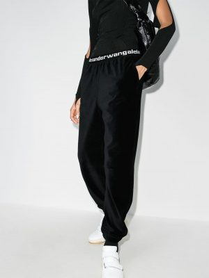 Alexander Wang stretch logo track trousers