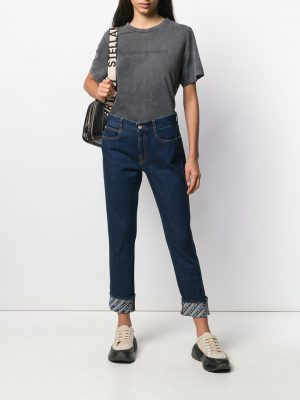 Stella McCartney monogram-lining jeans