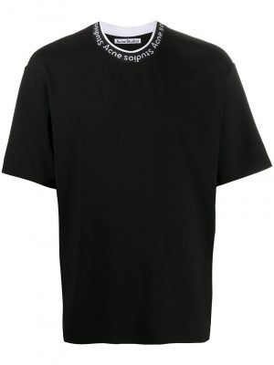 Acne Studios logo neck T-shirt