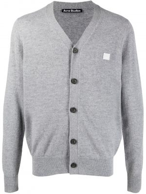 Acne Studios SS21 C60024-9901 Cardigan Sweater Grey Melange