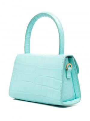 By Far SS21 21CRMINAAQUDSMA  Mini Croco Embossed Bag Aqua Blue