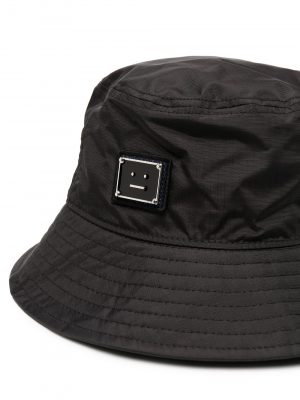 Acne Studios SS21 C40127-9000 Logo Bucket Hat black