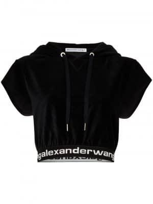 Alexander Wang cropped logo hoodie