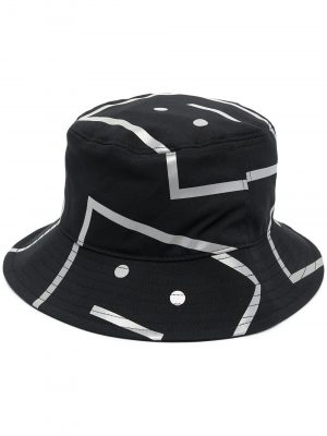 Acne Studios SS21 C40137-9000 Printed Bucket Hat Black