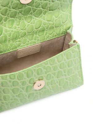 By Far SS21 21CRMINAPSDSMA Mini Croco Embossed Bag Pistachio