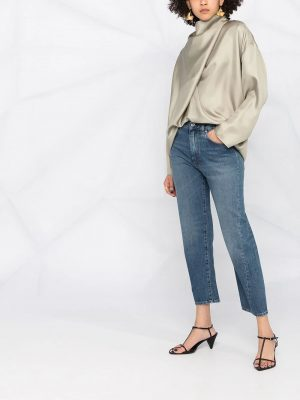 Toteme Twisted seam cropped jeans