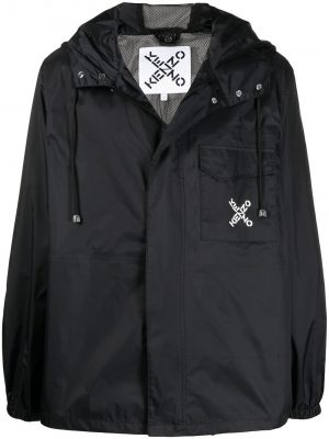 Kenzo logo-print hooded rain jacket