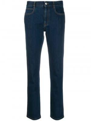 Stella McCartney monogram-lining jeans