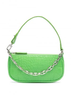 By Far SS21 21CRMIRAGSDSMA Mini Rachel Croco Embossed Bag Grass