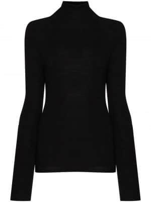 GANNI open-back high-neck jumper